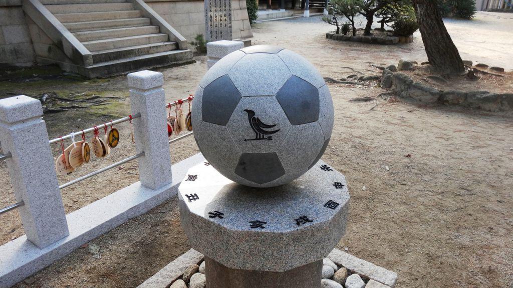 御影石サッカーボール