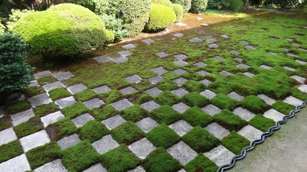 東福寺本坊庭園 北庭 小市松模様