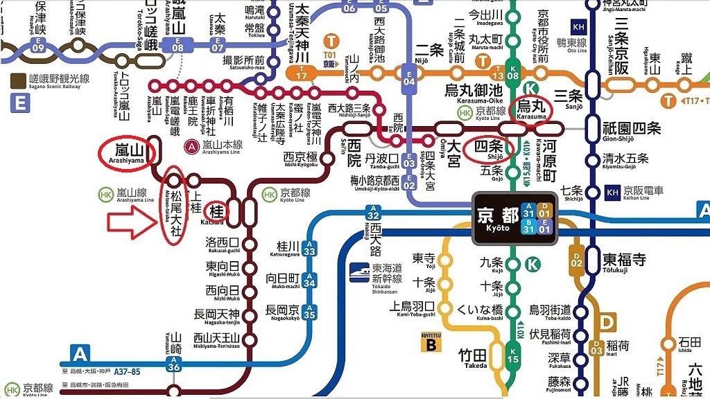 京都の路線図