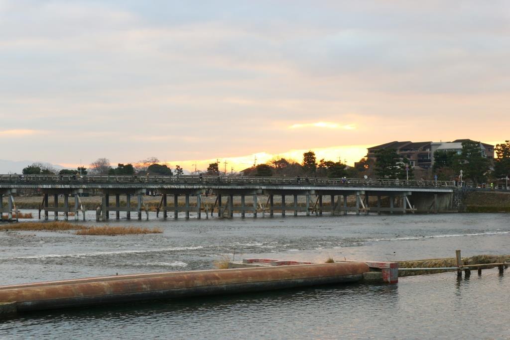 嵐山 渡月橋 2017年1月1日