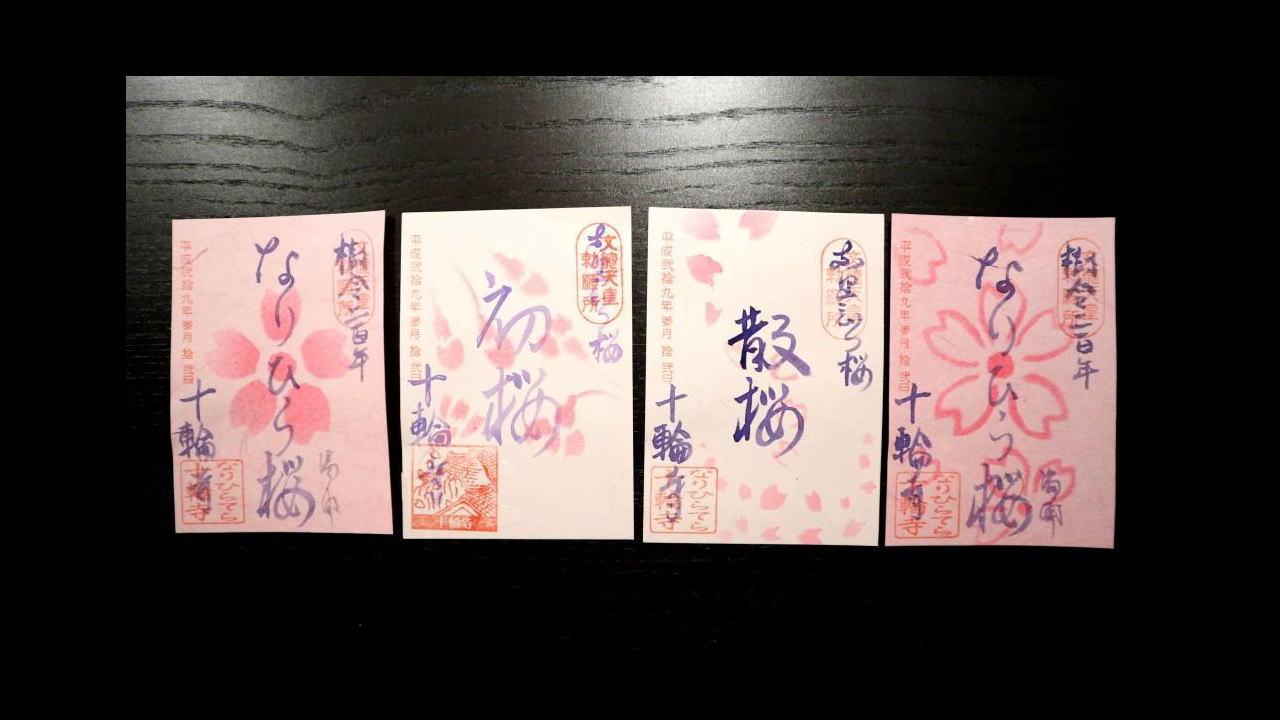「なりひら桜」の御朱印2017~十輪寺