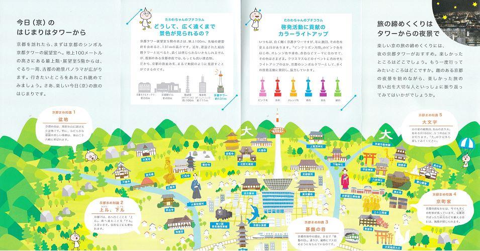 京都タワー パンフレット