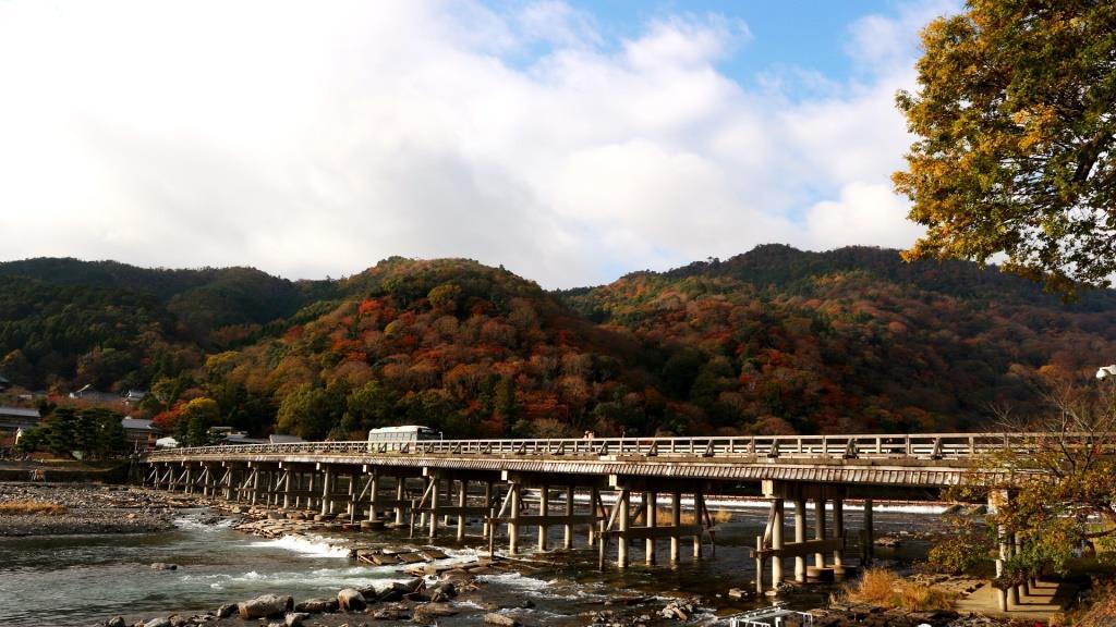 嵐山 渡月橋 紅葉