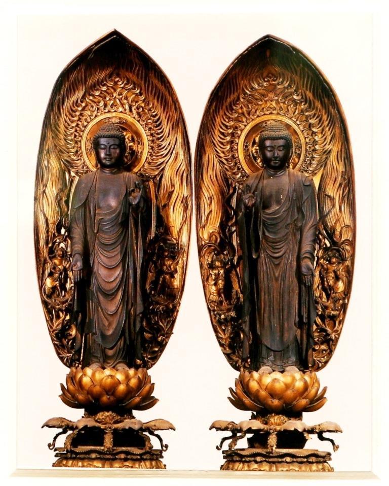 二尊院 木造釈迦如来立像 阿弥陀如来立像
