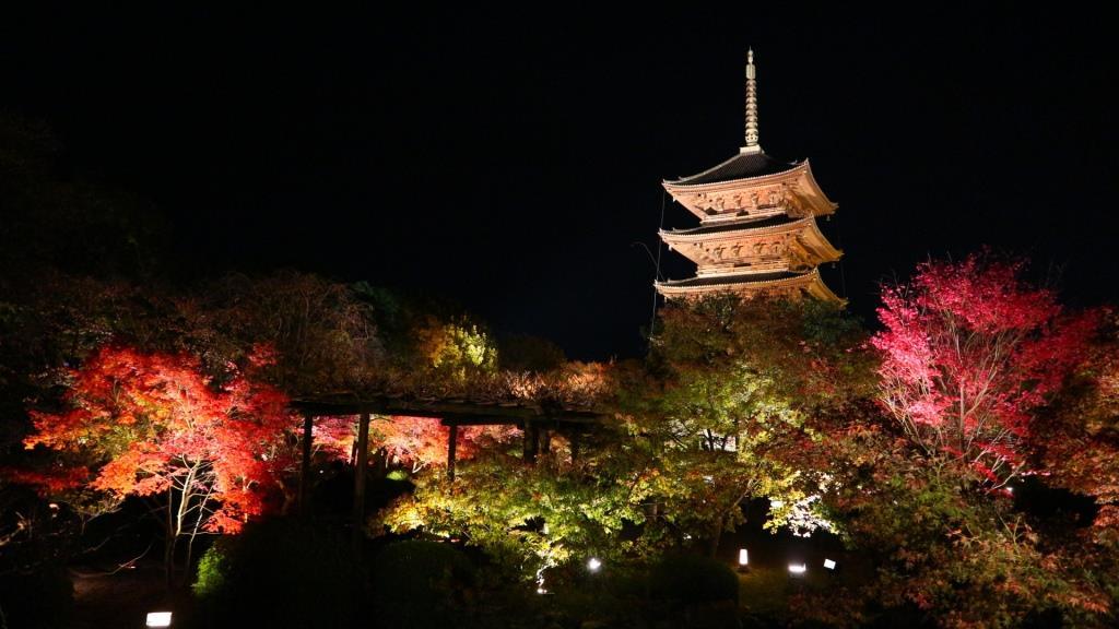 東寺ライトアップ2017