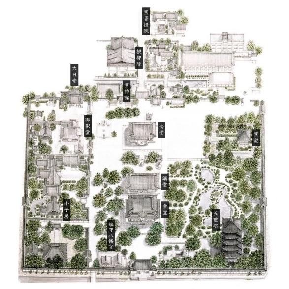 東寺の境内図