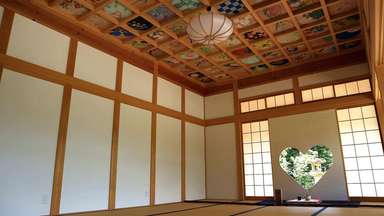 正寿院 猪目窓&天井画